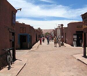 English: San Pedro de Atacama (street view)