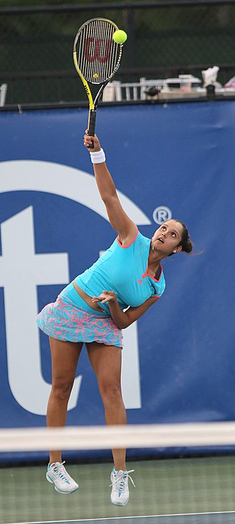 Women's sports - Sania Mirza, a former world No. 1 in women's tennis doubles, is an Indian Muslim.