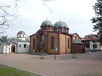 Serbs in Germany - Cathedral of Saint Sava in Düsseldorf, seat of the Serbian Orthodox Eparchy of Düsseldorf and all of Germany