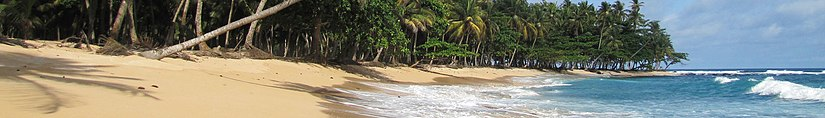 A view of Praia Inhame, Caue District, Sao Tome. Sao Tome WV banner.jpg