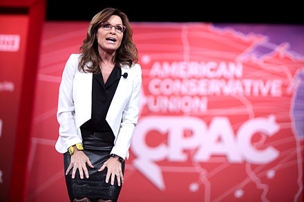 Palin speaking at the 2015 CPAC in National Harbor Sarah Palin by Gage Skidmore 4.jpg