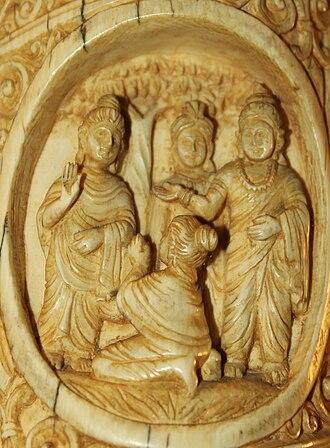 Nalanda - Sariputra and Moglayayana become disciples of Buddha