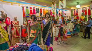 Indians in Fiji - Saris on sale in Lautoka, Viti Levu.