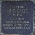Sassnitz, Hauptstr. 60, Stolperstein Hans Baale.jpg