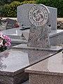 Saubion (Landes) stèle basque au cimetière.JPG