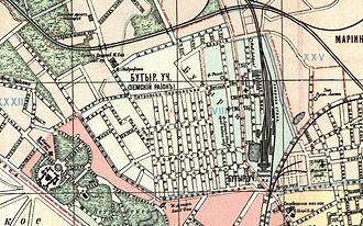 Savyolovsky District - Savyolovskiy District on plan of Moscow 1917