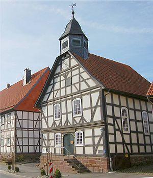 Schöneberg (Hofgeismar) - The church in Schöneberg, built in 1705