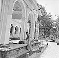 Schilders bij het Gouvernementspaleis aan het Gouvernementsplein in Paramaribo, Bestanddeelnr 252-2283.jpg