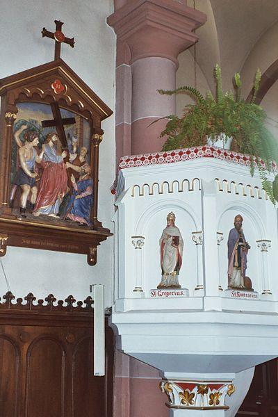Schwerdorff, village church, the pulpit