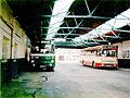 Scottish Bus Group buses in Kelso Bus Station, Scottish Borders September 1985.jpg