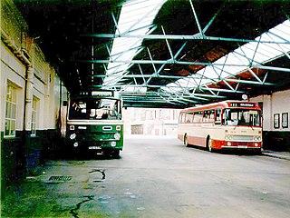 Bus garage Storage and maintenance facility
