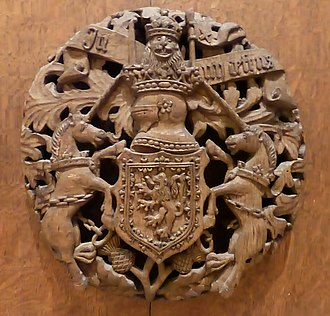 David Beaton - Beaton saw himself as a devoted servant of the Crown. These royal arms are from his apartments in St. Andrews Castle, Fife.