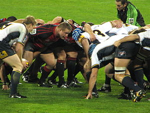 Crusaders scrum against the Brumbies in Super ...