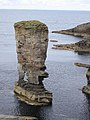 Sea stack near Yesnaby on Orkney mainland - geograph.org.uk - 35405.jpg