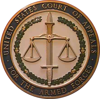 United States Court of Appeals for the Armed Forces Federal tribunal for appeal of lower military courts