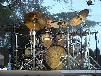 Cynic (band) - Sean Reinert on drums (with Focus art on bass drum), 2007