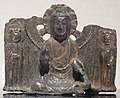 Seated bodhisattva with one leg pendent from Korea, 7th century, Tokyo National Museum.JPG