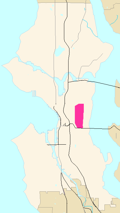 Seattle Map - Central District