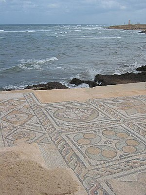 365 Crete earthquake - Image: Seaward Baths, Sabratha