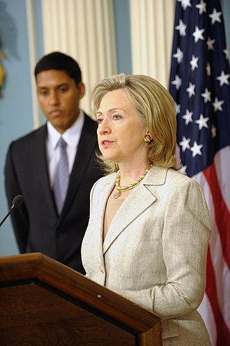 Rajiv Shah - U.S. Secretary of State Hillary Rodham Clinton  and USAID Administrator Rajiv Shah responding to questions on the flooding in Pakistan at the U.S. Department of State in Washington, D.C., on August 4, 2010.