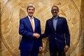 Secretary Kerry Shakes Hands with Rwandan President Kagame in Kigali, Rwanda (30029957690).jpg