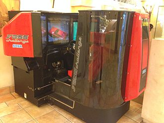 F355 Challenge - Sega F355 Challenge three screen arcade unit