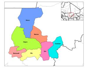 Ségou Region - Cercles of the Ségou Region