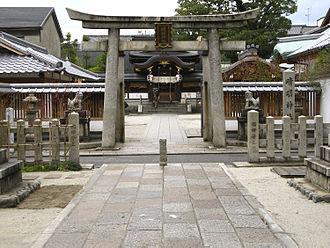 Seimei Shrine - Torii gate at entrance to Seimei Shrine