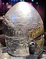 Sepoltura principesca di peretu, elmo in argento dorato, 310-290 ac. ca. 05.JPG