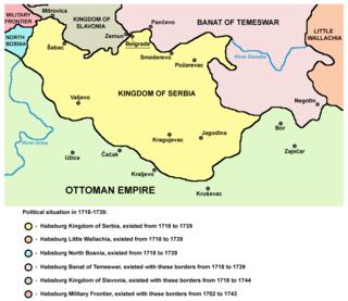 Kingdom of Serbia (1718–39) crownland of the Habsburg monarchy between 1718–1739