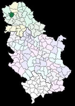 mapa srbije kula Општина Кула — Википедија, слободна енциклопедија mapa srbije kula