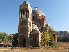 Serbian Ortodox Christ the Savior Cathedral - Outside - Pristina 2012 - 1.JPG