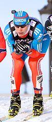 Siergiej Ustiugow podczas zawodów (20 marca 2013)