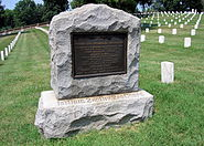 Seventh Ohio Regimental Association Memorial at Culpeper National Cemetery and Headstones