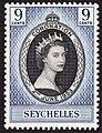 Seychelles 1953 coronation stamp.JPG