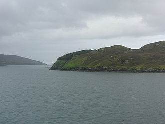 Sgeotasaigh - Sgeotasaigh from the Tarbert ferry.