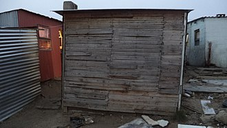 Joe Slovo Park - A typical shack in Joe Slovo Park. Photographed 2013