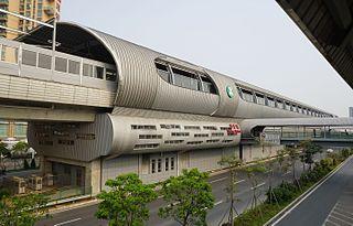 Shajing station metro station in Shenzhen