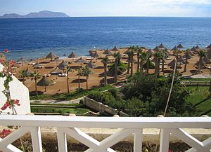 View of the Red Sea as seen from Sharm El Sheikh