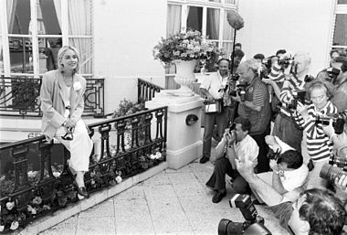 Séance photo pour Sharon Stone en 1991.