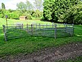 Sheep pens sheepfold on a footpath at Matching, Essex, England.jpg
