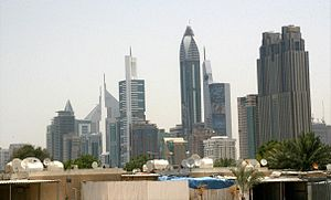 Al Satwa - View of Sheikh Zayed Road from Satwa