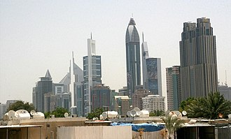 Al Satwa - View of Sheikh Zayed Road from Satwa