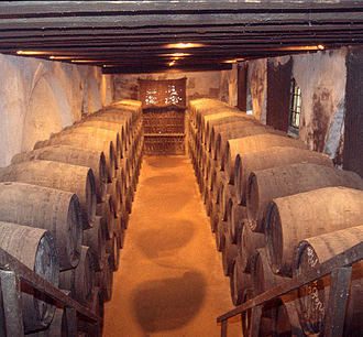 Oak - Sherry maturing in oak barrels