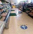 Shopping during Coronavirus pandemic, Saxmundham Tesco (geograph 6443615).jpg