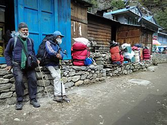 Everest base camps - A short rest on Everest Base Camp Trail, Nepal