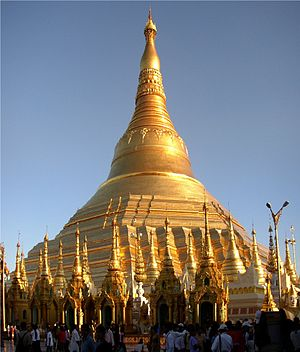 Religion in Myanmar - Shwedagon Pagoda in Yangon - the most revered pagoda in Myanmar