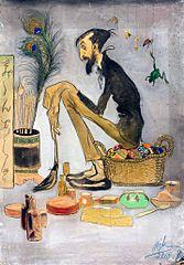 Karykatura malarza Stanisława Dębickiego