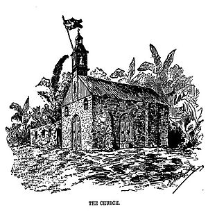 Siege of Baler - The church amidst the siege.