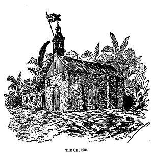 Siege of Baler - The church amidst the siege.